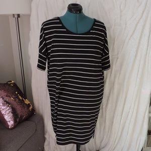 EXPRESS Short Sleeve Shirt Dress Tunic Stripe